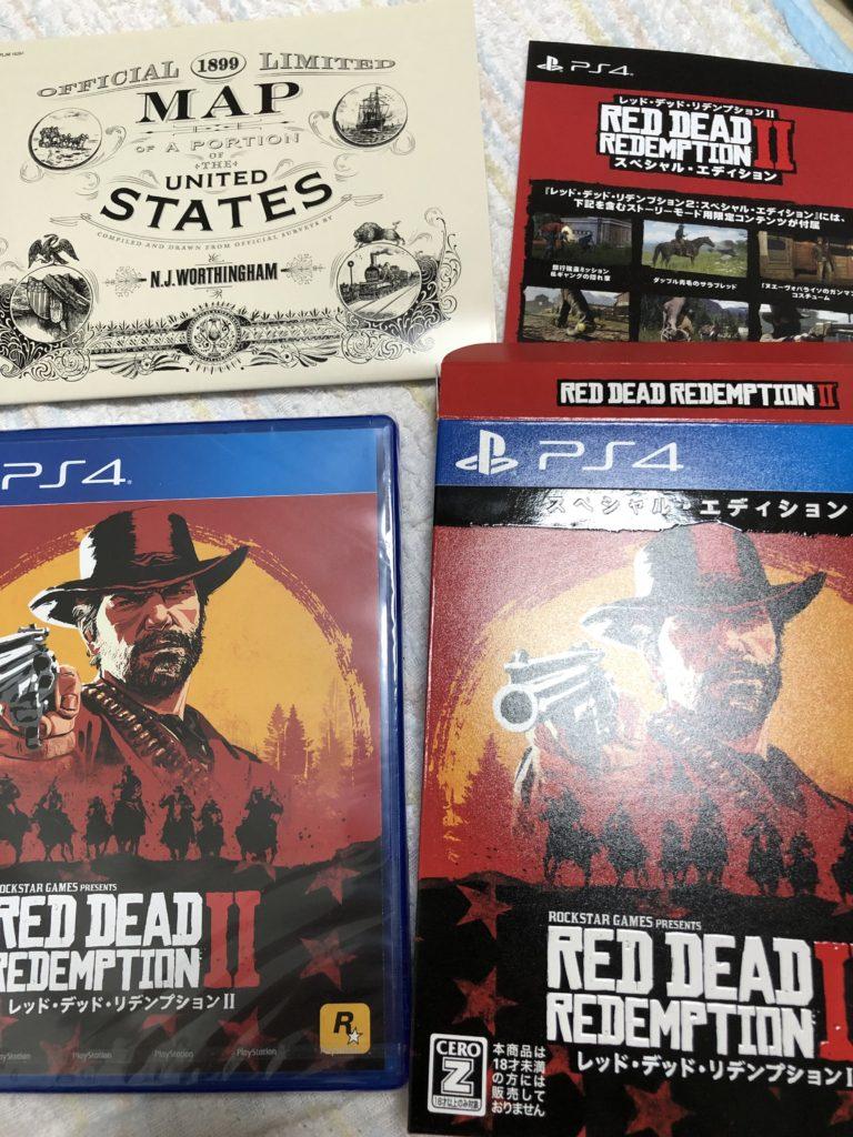 Red Dead Redemption 2スペシャルエディションの内容物