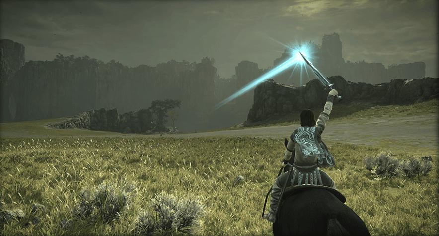 ワンダと巨像のゲーム画面